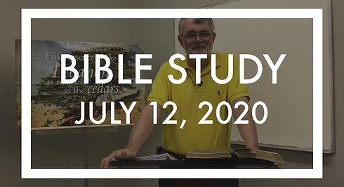 Bible Study 7/12/20