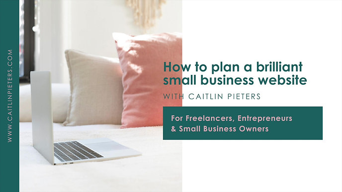 How To Plan A Brilliant Small Business Website