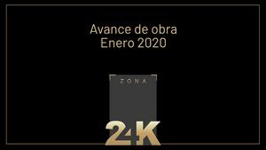 Avance de obra Zona 24K - Enero 2020