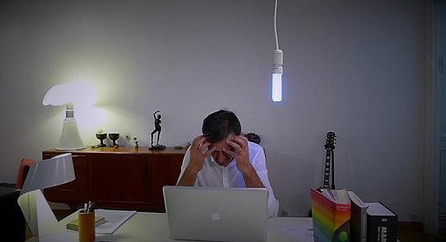 Une ampoule dans mon bureau