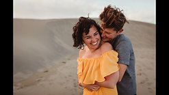 Love Story in the Dunes at Sunset