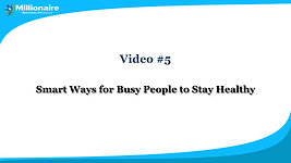 Video 5 Smart Ways for Busy
