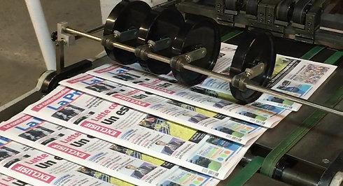 Ligne de finition journaux
