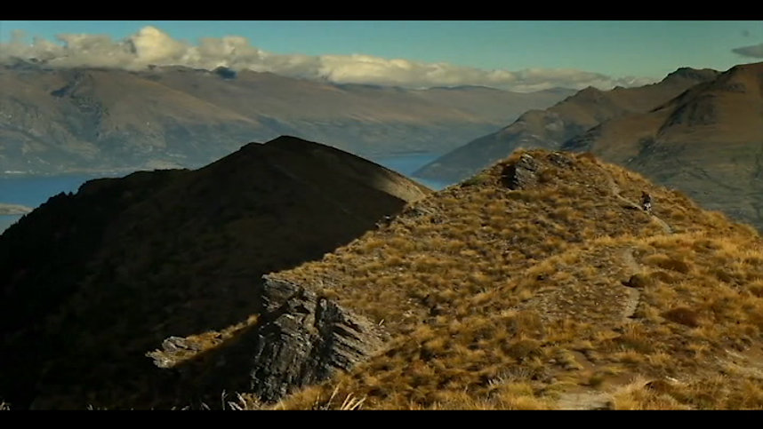 Mountain biking in the awesome Southern Alps of New Zealand