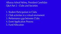 Albaraa -  Q&A clubs and societies