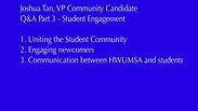 Joshua -  Q&A Student Engagement