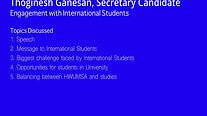 International Student Discussion - Thoginesh