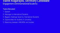 International Student Discussion - Elaine