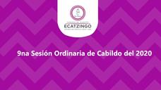 9na Sesión Ordinaria de Cabildo del 2020