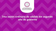 Septima Sesión Ordinaria de Cabildo 2020