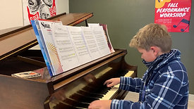 """TML student Evan plays music from """"Pirates of the Caribbean"""""""