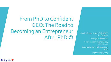 Becoming A CEO After PhD: Alternative Roads to Academia