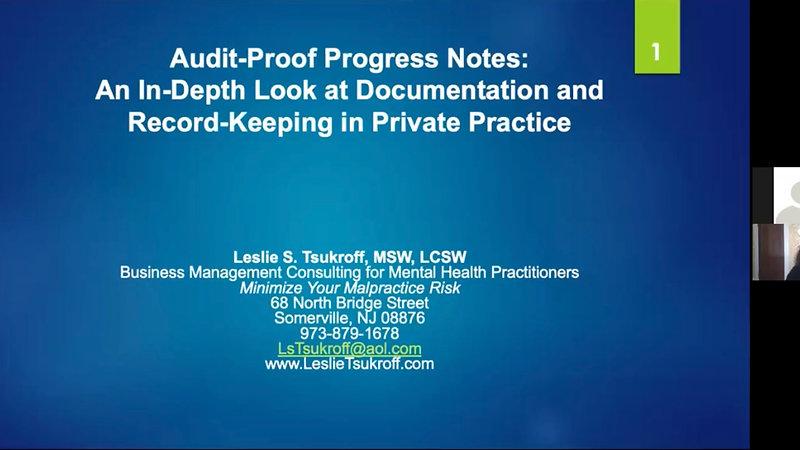 Audit-Proof Progress Notes
