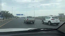 During the influencer Mr. Hasan Kutbi driving our vehicles in Bahrain 1