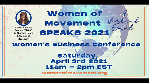 Women of Movement SPEAKS April 2021