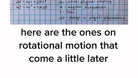 AP Physics 1 Kinematic Equations