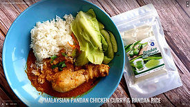 Chicken Curry with Pandan Leaf Powder