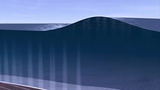 Tsunami Wave Visualization from side view