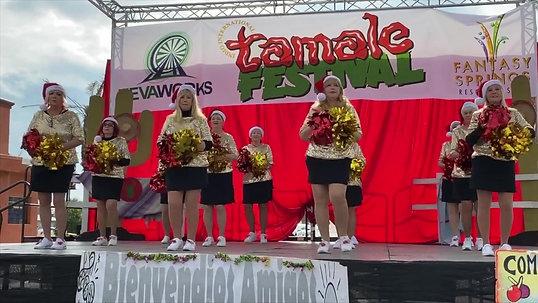 Pom Squad at Indio Tamale Festival!
