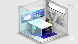 Huddle room 2 monitores