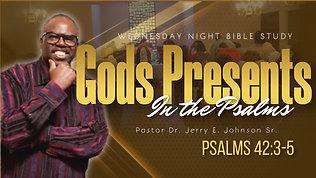 """God's Presents in the Psalms"" Psalms 42:3-5"