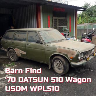 Barn Find '70 DATSUN 510 Wagon First Start-up After 20 years Storage USDM  WPL510 Genuine SSS Engine