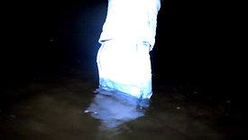 WetLook 242 wet denim skirt and wet rubber boots