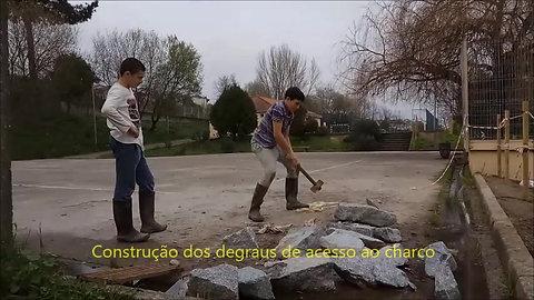 Construção do charco ecológico