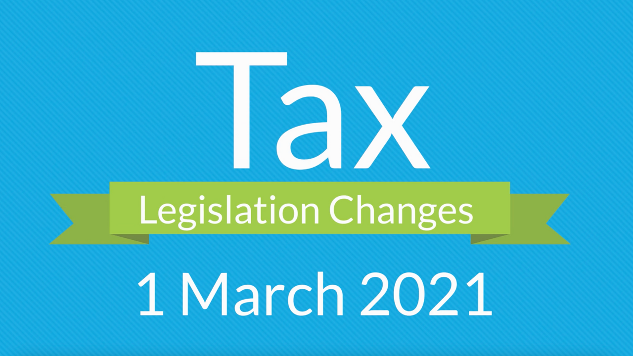 Tax Legislation Changes in South Africa from 1 March 2021