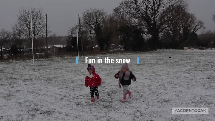 Fun in the snow at Acorn to Oak