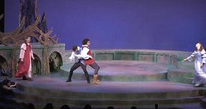 Janna Kozloski as Hermia in A Midsummer Night's Dream