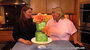 Paid Video: Shabby Chic Mason Jar Cake