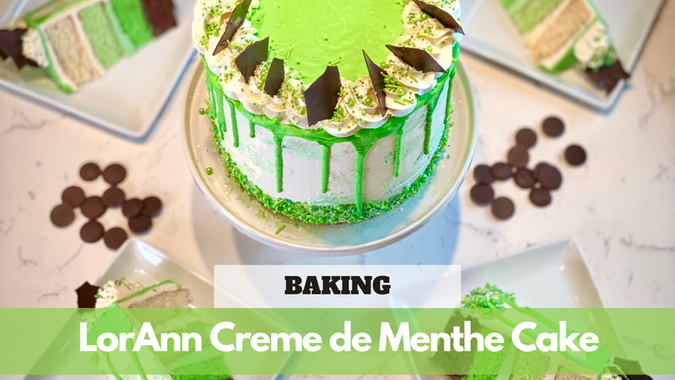 Paid Video Preview: LorAnn Creme de Menthe Cake