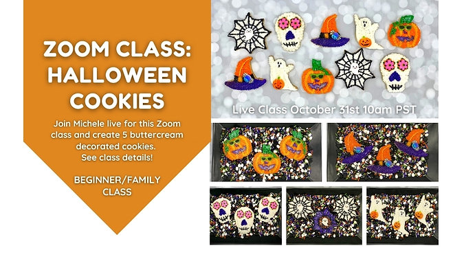 Preview: Halloween Cookie Decorating Zoom CLass Zoom Class