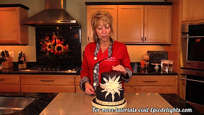 How to create an Isomalt Mosaic Tile and Spider Mum Cake