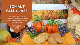 Class Preview: Isomalt Fall Grapes & Pumpkins