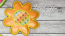 Royal Icing Cookies: 8 Petal Graphic Flower Cookie