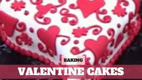 Free Video: Heart Shaped Valentines Cake