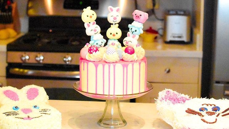 Free Video: Easter Ganache Drip Cake