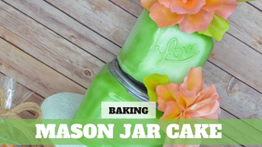 Paid Video Preview: Shabby Chic Mason Jar Cake
