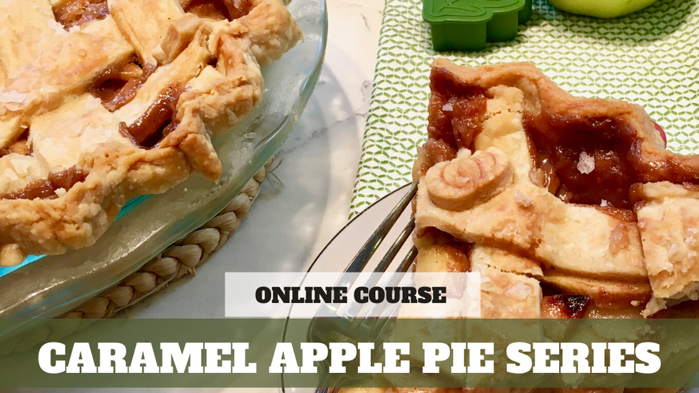 Paid Video Preview: Salted Caramel Apple Pie