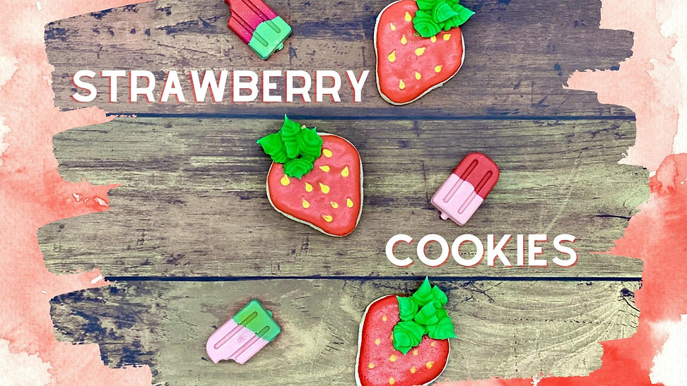 Royal Icing Cookies: Strawberry Cookie