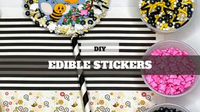 Royal Icing Cookies: Sticker Cookies