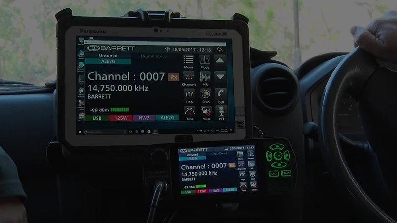 Barrett 4050 HF SDR - Analogue vs Digital Voice Demonstration