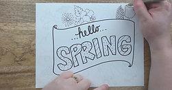 Watch Me Draw: Spring Florals
