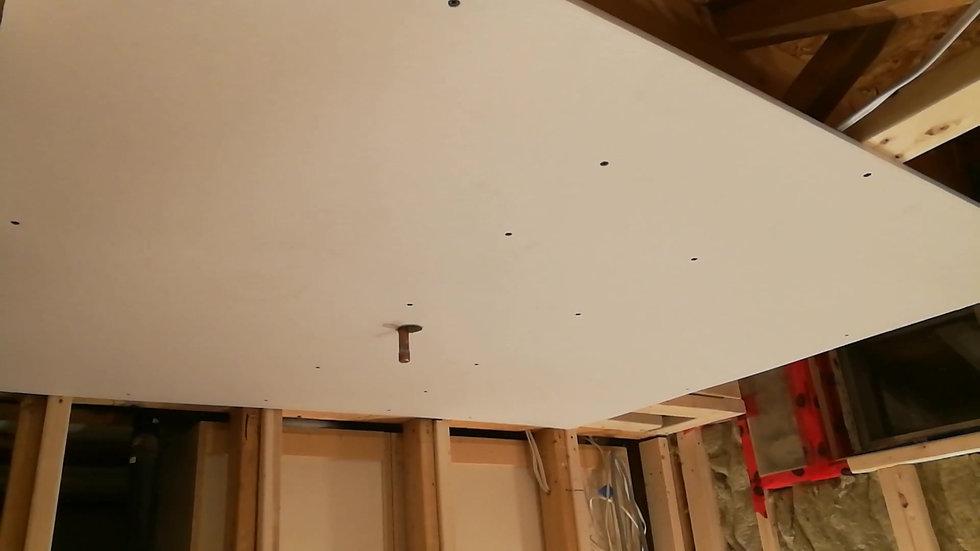 Basement Bathroom Construction Progress