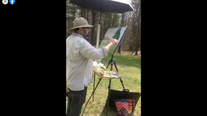 Outdoor Watercolor Demo at The Mount