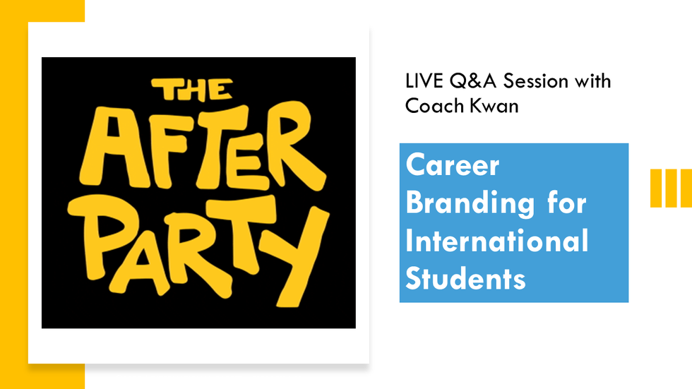 LIVE Q&A session (Post-Career Branding webinar event)