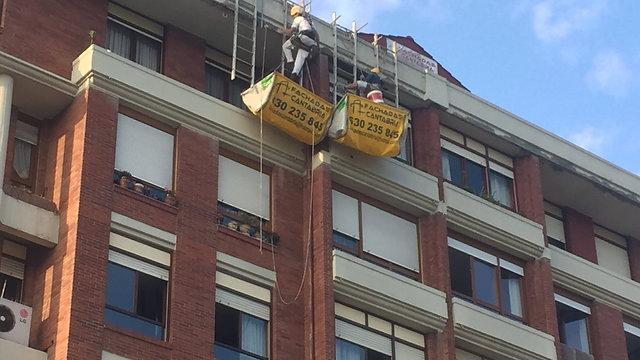 Fachadas Cantabria - rehabilitación de edificios - trabajos verticales