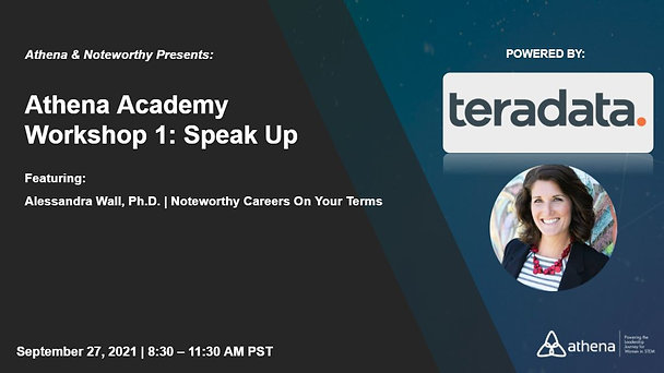 9.27   Athena Academy Workshop 1: Speak Up